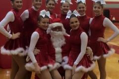 Santa and Kickline